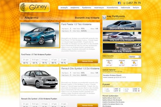 web site - araçlarımız