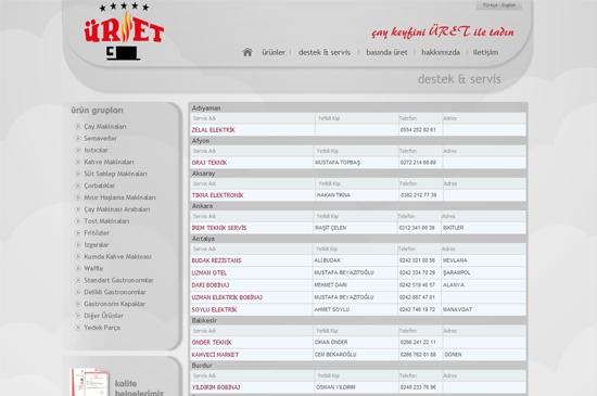 web site - destek servis