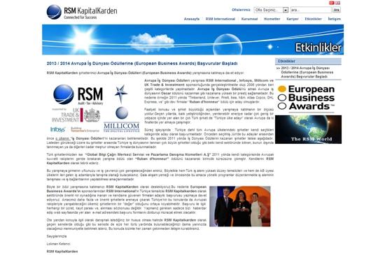 web site - etkinlikler
