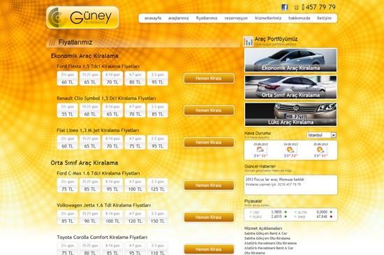 web site - fiyatlarımız