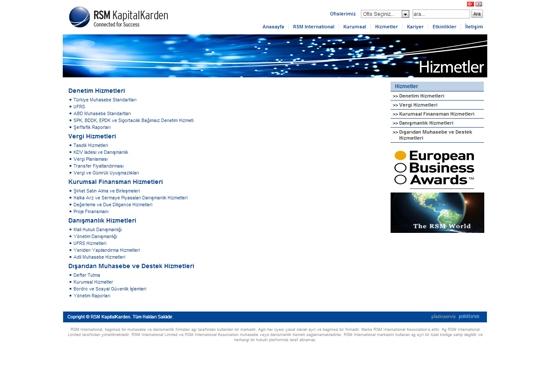 web site - hizmetler
