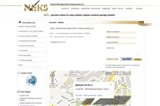 web site - iletişim