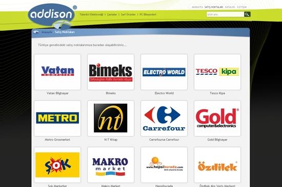 web site - satış noktaları
