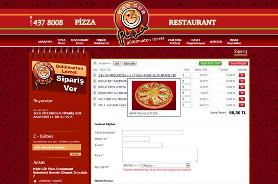 web site - sepet