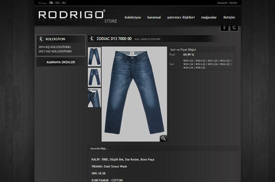 web site - ürünler detay