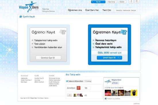 web site - üyelik kaydı